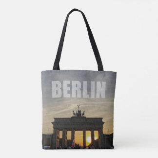 Puesta del sol de la puerta de Brandeburgo, BERLÍN Bolsa De Tela