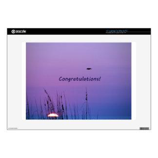 Puesta del sol de la púrpura de la enhorabuena skins para 38,1cm portátil