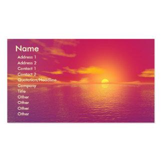 Puesta del sol de la salida del sol tarjetas de visita