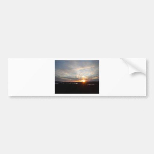 Puesta del sol de la torre de Abenaki del invierno Pegatina Para Auto