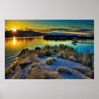 Puesta del sol de Lake Havasu Posters