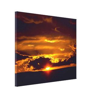 Puesta del sol de las cavernas de Carlsbad Impresión En Lona Estirada