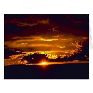 Puesta del sol de las cavernas de Carlsbad Tarjeta De Felicitación Grande