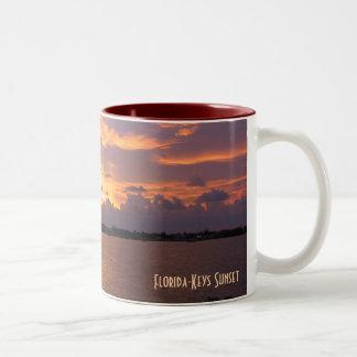 Puesta del sol de las Florida-Llaves Taza De Café