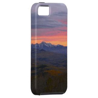 Puesta del sol de las montañas de Colorado iPhone 5 Case-Mate Cárcasas