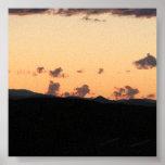 Puesta del sol de las nubes posters