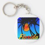 Puesta del sol de las palmeras de la Florida Llavero Personalizado