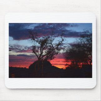 puesta del sol de Los Ángeles Alfombrillas De Ratón