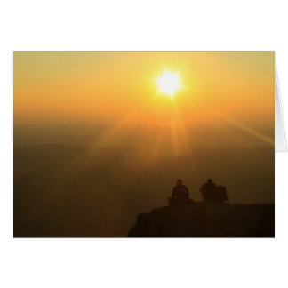 Puesta del sol de los caminantes de Monadnock del Tarjeta De Felicitación