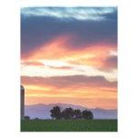 Puesta del sol de los granjeros de Colorado Plantilla De Membrete