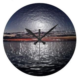 Puesta del sol de los océanos reloj de pared de o