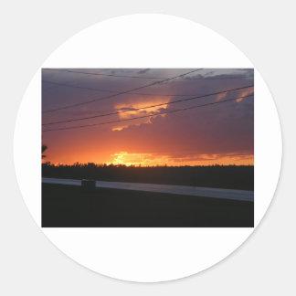 Puesta del sol de Maine Pegatinas Redondas