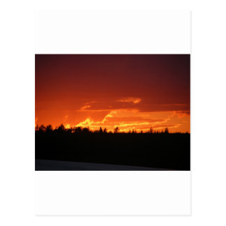 Puesta del sol de Maine Tarjetas Postales
