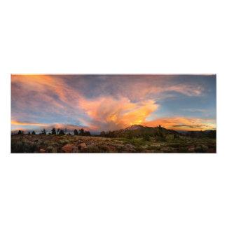 Puesta del sol de Mammoth Mountain de la cumbre Fotografías