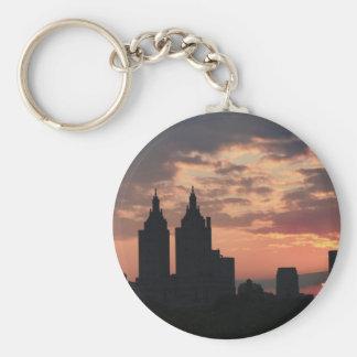 puesta del sol de Manhattan Llavero
