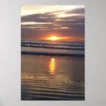Puesta del sol de Marina Del Rey Poster