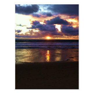 Puesta del sol de Marina Del Rey Tarjetas Postales