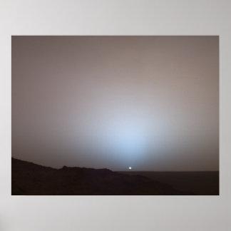 Puesta del sol de Marte Posters