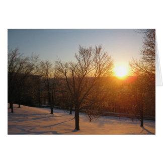 Puesta del sol de marzo en RPI Tarjeta De Felicitación