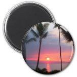 ¡Puesta del sol de Maui! .JPG Imán Para Frigorifico
