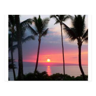 ¡Puesta del sol de Maui! .JPG Postales