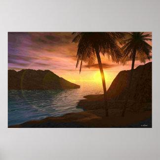 Puesta del sol de Maui Poster