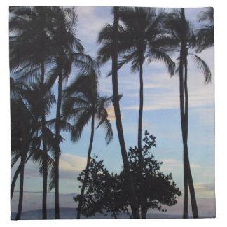 Puesta del sol de Maui Servilletas De Papel