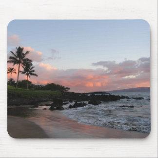 Puesta del sol de Maui Alfombrilla De Raton