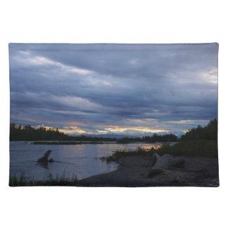 Puesta del sol de medianoche de Alaska Mantel