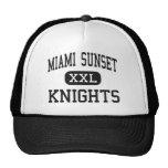 Puesta del sol de Miami - caballeros - alta - Miam Gorros Bordados