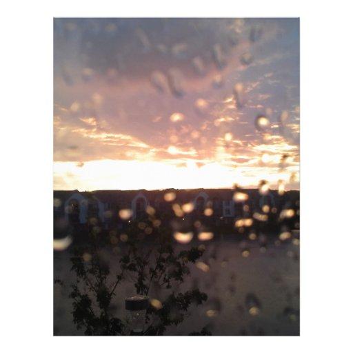 Puesta del sol de Michigan en la lluvia Membrete Personalizado