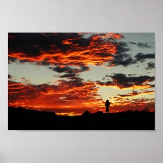 Puesta del sol de Moab Póster