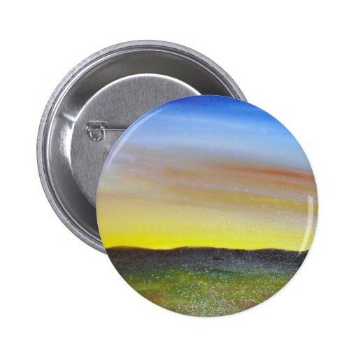 Puesta del sol de Montana Pin Redondo 5 Cm