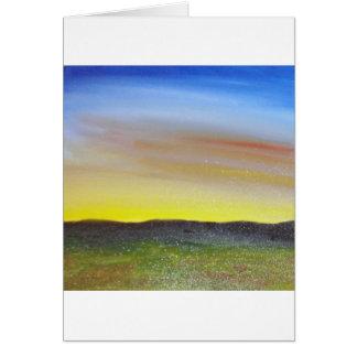 Puesta del sol de Montana Tarjeta De Felicitación