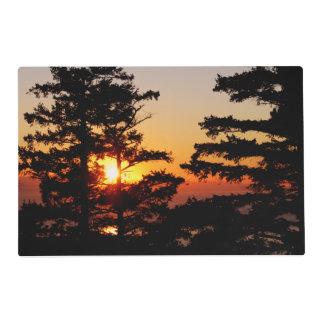 Puesta del sol de Mt. Erie Tapete Individual