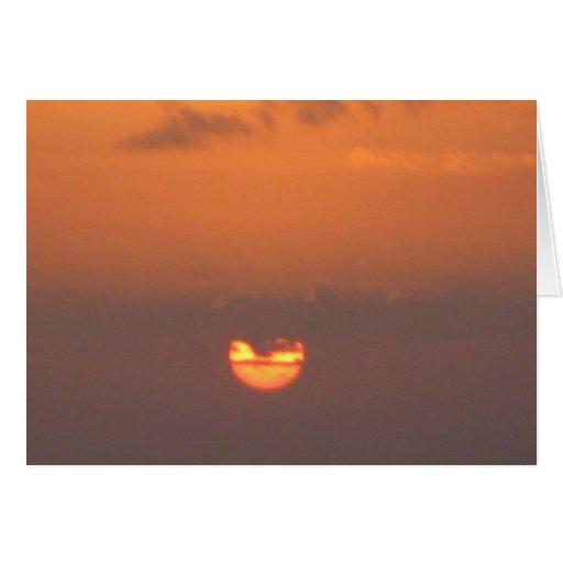 Puesta del sol de Namaste Felicitacion