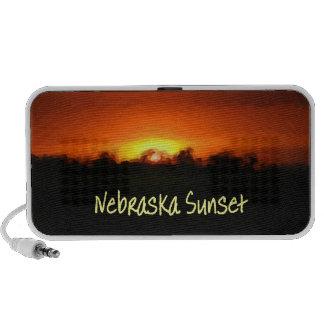 Puesta del sol de Nebraska Laptop Altavoces