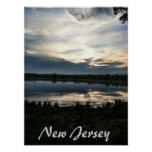 Puesta del sol de New Jersey Impresiones