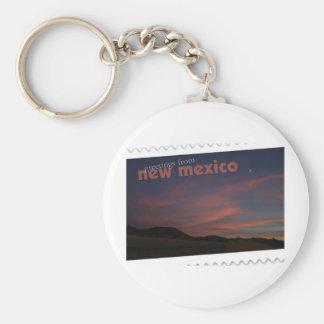 Puesta del sol de New México Llavero Personalizado