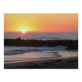 Puesta del sol de Newport Poster