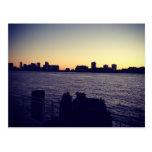 Puesta del sol de NYC Postales