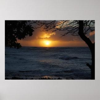 Puesta del sol de Oahu Posters