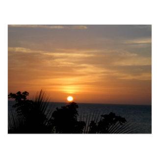 Puesta del sol de Ocho Rios en Jamaica Postales