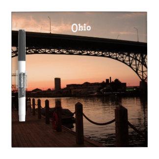 Puesta del sol de Ohio Tablero Blanco