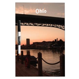 Puesta del sol de Ohio Pizarras Blancas