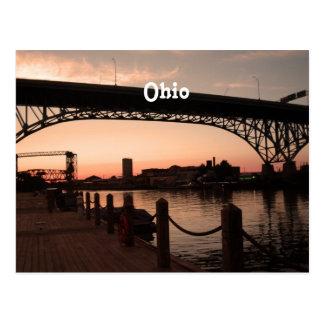 Puesta del sol de Ohio Tarjetas Postales