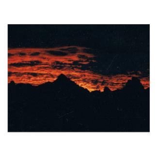Puesta del sol de oro 01 del valle postales