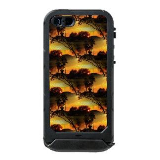 Puesta del sol de oro ardiente de la Florida Funda Para iPhone 5 Incipio ATLAS ID
