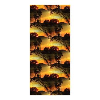 Puesta del sol de oro ardiente de la Florida