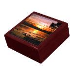 Puesta del sol de oro cajas de joyas